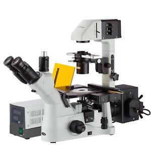 Amscope 40x 1500x Phase Contrast Fluorescence Inverted Microscope