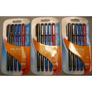 New Lot Of 85 Packs Paper Mate 300 Stick Fine Point Ballpoint Pens 5pcs Colored