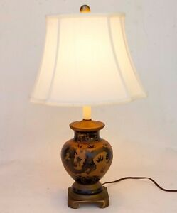 Chinese Oriental Dragon Design Porcelain Table Lamp