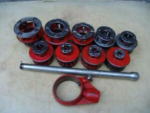 Ridgid 12 r Die Set Pipe Threader 1 8 To 2 Inch For 300 Great Shape