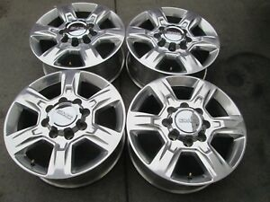 20 Chevy Gmc 2500 Hd 3500 Hd Oem Factory Polished Wheels Rims 2017 A