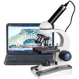 Amscope 40x 1000x Led Coarse Fine Focus Science Student Microscope 1 3mp Usb