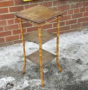 Barn Found Antique Victorian 19th Century Bamboo Stand C1900