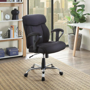Big Tall Manager Office Chair Extra Comfort Black Mesh Fabric Furniture Computer