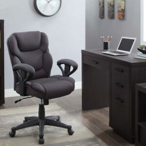 Big Tall Office Manager Chair Soft Comfort Black Mesh Fabric Furniture Computer