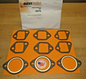 1957 To 1967 Cadillac 9 Pcs New Complete Exhaust Manifold Gasket Set Best 3574