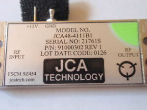 New Rf Amplifier 4 8 6ghz 34db Gain C band Jca48 4111b1 Test Data