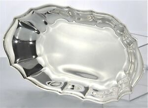 Vtg Oneida Silver Plate 12 X 6 5 Oval Serving Tray Platter Bread Vegetables