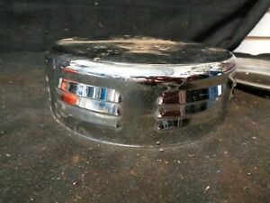 Vintage Corvette Style 4bbl Air Cleaner Louvered Single 7 1 4 Chrome Patina