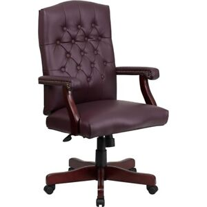 Flash Furniture Bonded Leather Office Chair Burgundy 801l lf0019 by lea gg