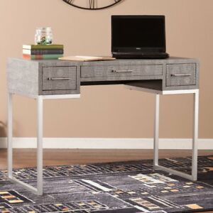 Southern Enterprises Carabelle Reptile Desk Gray