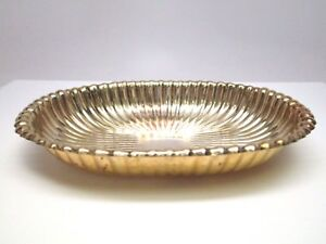 Vintage Gorham Sterling Silver Reeded Dish Deco Mantiques For Coins Or Keys