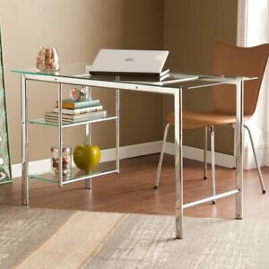 Southern Enterprises Oslo Desk Chrome