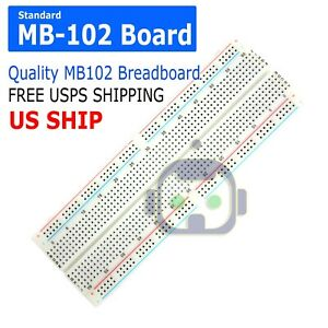 Mb 102 830 Point Prototype Pcb Solderless Breadboard Protoboard Us