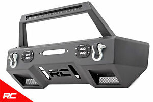 Rough Country Front Stubby Winch Bumper W Led fits 2007 2018 Jeep