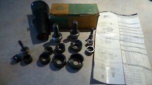Greenlee Knockout Complete Conduit Punch Set 735 In Leather Pouch Box 7 8