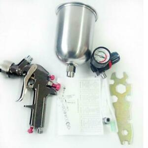 2 0mm 600cc Cup Hvlp Gravity Feed Spray Gun Set Regulator Auto Paint Tool Kit Us