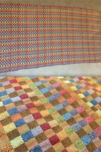 Alexander Girard Fabric Large Vintage Multi Color Checkerboard Damaschek Eames