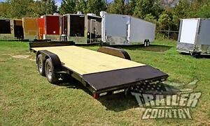 New 2019 7 X 18 7k Rice Open Deck Utility Equipment Carhauler Car Hauler Trailer