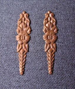 2 Vintage Golden Metal Appliques Embellishments For Crafts Furniture Repurpose A