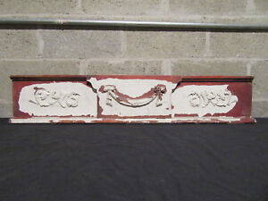 Antique Carved Walnut Pediment 41 Inches Wide Architectural Salvage