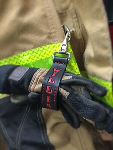 Firefighter Gift Personalized Firefighter Glove Strap Handmade By A Fireman