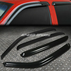 For 00 07 Chevy Gmc Crew Cab Smoke Window Visor Wind Deflector Vent Rain Guard