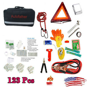 123 Piece Small First Aid Kit For Emergency Safety Travel Sports Home Office Car