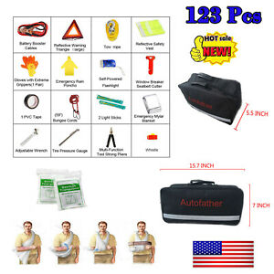 123pcs Small First Aid Kit For Emergency Safety Travel Sports Home Office Car