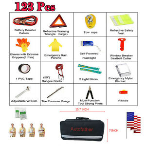 123pcs Small First Aid Kit For Emergency Safety Travel Sports Home Office Car Us