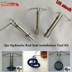 Universal 3pc Set Hydraulic Cylinder Piston Rod Seal U Cup Installation Tool Kit