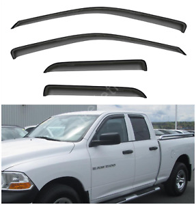 4pcs Outside Mount Window Visors Fit 09 18 Dodge Ram 1500 19 Classic Quad Cab