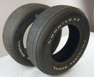 Goodyear Polysteel Radial Tires Pair 2 P225 70 r15 Used 7 32 For Judging Only