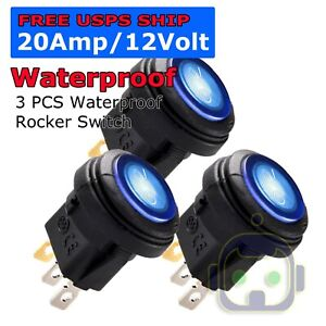 Toggle Switch Heavy Duty 20a 12v Spst 2 Terminal On off Car Waterproof Boot Atv