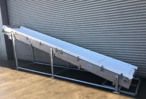 30 X 17 Long Stainless Cleated Incline Food Conveyor Conveying