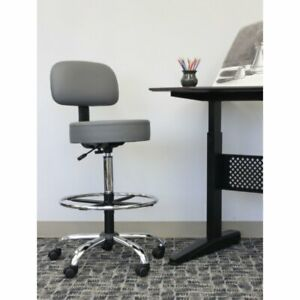 Boss Stand up Adjustable Drafting Stool With Back And Optional Footring