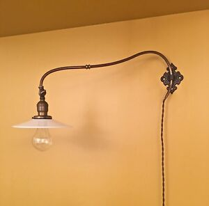 Vintage Lighting Early Electric Sconce Rare Extraordinary