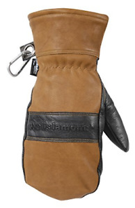 Men s Leather Winter Mittens Water resistant Hydrahyde 100 Gram Thinsulate