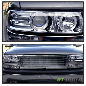 99 06 Silverado Suburban Tahoe Halo Projector Headlights Bumper Signal Lights