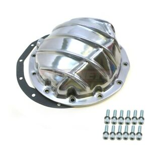 Polished Aluminum Finned Differential Cover Chevy Gm 12 Bolts 8 8 Ring Gear