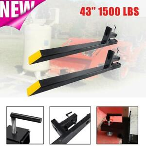 43 1500lbs Capacity Clamp On Pallet Forks Loader Bucket Skidsteer Tractor