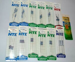 Mixed Lot Of Nte Flameproof Resistors New Unopened