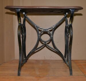 Rare Antique Florence Sewing Machine Cast Iron Treadle Top Table Base Only