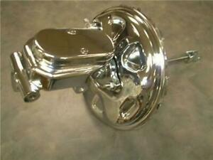 1964 1972 Gm A F Body 11 Delco Chrome Brake Booster Flat Top Master Cylinder