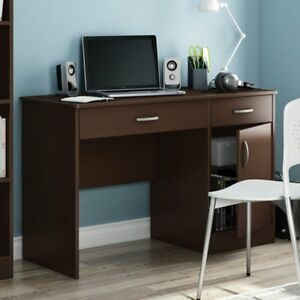 South Shore Axess Collection 47w In Small Desk Chocolate Chocolate