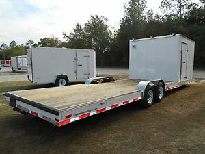 New 8 5 X 30 8 5x30 Hybrid Enclosed Cargo Open Utility Atv Car Hauler Trailer