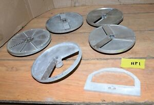 5 Hobart Pelican Slicer Blade Head 8 Aluminum Vegetable Wheel Shredder Lot Hp1