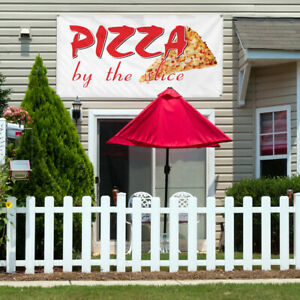 Vinyl Banner Sign Pizza By The Restaurant Cafe Bar Style T Outdoor White