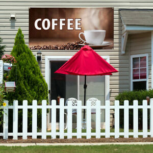 Vinyl Banner Sign Coffee Restaurant Cafe Bar Style T Marketing Advertising