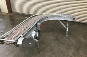 12 X 9 Long Stainless Case Conveyor With 90 Degree Curve